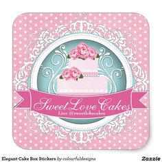 Elegant Cake Box Stickers