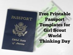 Girl Scout World Thinking Day is less than a month away! Now is the time to get some things ready for your troop meeting. Photo from Pixabay One item many leaders love to use are passports, especia…