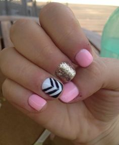 Colors go together so good!    See more nail designs at www.nailsss.com/...