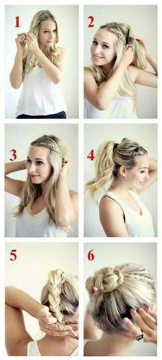 Cute hair updo tutorial i would only go to 4 though