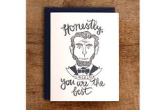 Abraham Lincoln Card || Presidents Day