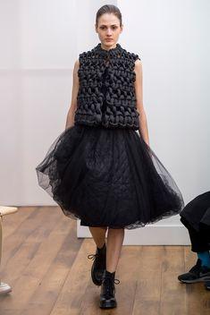 noir kei ninomiya - Comme des Garcons line   (A Comme des Garçons Pattern-Cutter Finds His Own Way in Paris - Style.com)