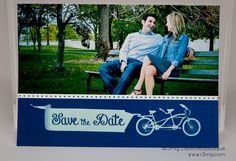Wedding Save the Date  Vintage Bike  Vows by r3mg   Card & by r3mg, $87.50