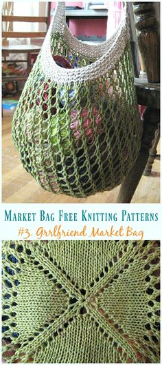 These 5 Market Bag Free Knitting Patterns are quick and easy to make. You can make your own reusable market bags. Markt-Einkaufstasche Free Knitting Pattern Source by 5 Markttasche Free Knitting Patterns – Nuray Şen – Willkommen bei Pin World Knittin Knitting Stitches, Knitting Patterns Free, Knit Patterns, Knitting Toys, Loom Knitting, Tote Bag Patterns, All Free Knitting, Designer Knitting Patterns, Afghan Patterns