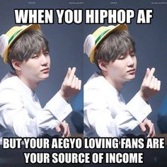 Yoongi so dedicated. He doesn't have to try. He just radiates Aegyo, really.