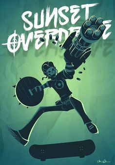Not really my kind of game, but I appreciate the style -Will Video Game Movies, Video Game Art, Simple Illustration, Character Illustration, Character Design References, Character Art, Videogames, Sunset Overdrive, Concept Weapons