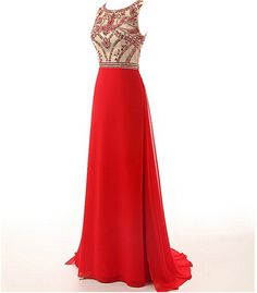 Red Beading Charming Prom Dresses,The Elegant Floor-Length Evening Dresses, Prom Dresses, Real Made Prom Dresses On Sale,