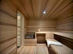 Ski Chalet With A Modern Interior Design. happens to have a big sauna to Spa Interior, Baths Interior, Modern Interior Design, Sauna Design, Cabin Design, Design Hotel, House Design, Sauna Steam Room, Sauna Room