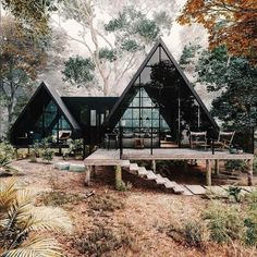 Villa Design, Cabin Design, House Design, Design Design, Render Design, Design Ideas, Cabins In The Woods, House In The Woods, Amazing Architecture