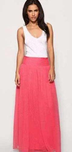 Летняя длинная юбка из шифона