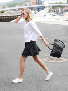 What to wear when you're on the go. #style #fashion #outfit #ideas #cute #shoes #sneakers #Keds