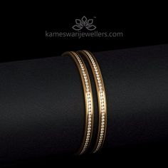 Elegant gold bangles collections by Kameswari Jewellers. Buy gold bangles online from South India's finest goldsmiths with 9 decades of expertise. Bracelets Design, Gold Bangles Design, Gold Jewellery Design, Jewellery Box, Amrapali Jewellery, India Jewelry, Jewellery Making, Black Diamond Earrings, Diamond Glitter