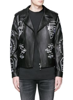 Haculla | Black 'nyc Tribe' Leather Biker Jacket for Men | Lyst