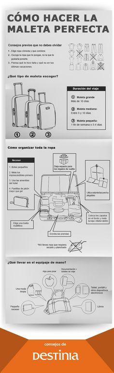 Consejos de Destinia como hacer la maleta perfecta?