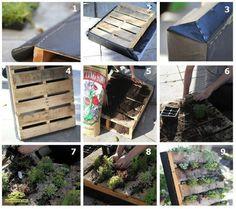 DIY Palette Garden- awesome #garden idea!