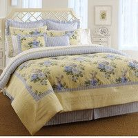 Shop for Laura Ashley Caroline Queen-size Comforter Set. Get free delivery On EVERYTHING* Overstock - Your Online Fashion Bedding Store! Get in rewards with Club O! Queen Size Comforter Sets, Bedding Sets, Chic Bedding, Queen Bedding, Dorm Bedding, French Country Bedrooms, French Country Decorating, Console, Laura Ashley Home