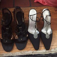 BUNDLE OF SHOES SIZE 9 1/2 This bundle is for 5 pairs of woman's shoes. These shoes range from summer, special occasions, a night out. All in good condition. All of these are a 9 1/2. any questions, please ask.☀️additional pictures in closet... Rampage Shoes