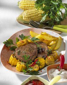 Unser beliebtes Rezept für Chili-Maiskolben mit Steak und mehr als 55.000 weitere kostenlose Rezepte auf LECKER.de.