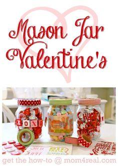 Simple Mason Jar Valentines Gift Idea