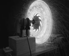 Propelled sparkler... so cool!! Amazing experiments and photography by Caleb Charland (My Modern Metropolis)