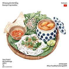 Your Food My Challenge 2019 Best Picture For food art appetizers For Your Taste You are look Food Art Painting, Food Sketch, Food Cartoon, Watercolor Food, Food Wallpaper, Food Drawing, Logo Food, Aesthetic Food, Food Packaging