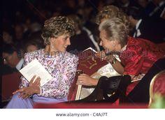 Princess Diana and the Duchess of Kent Stock Photo