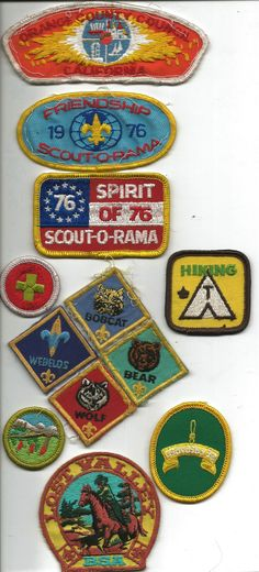 Boy Scout Badges from the 1970s.