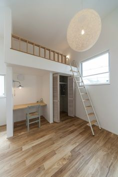 子供部屋 Bedroom Workspace, Minimalist Room, Small Room Design, Cool Dorm Rooms, Small Room Bedroom, Loft Room, Loft Apartment Decorating, Diy Loft Bed, Bedroom Deco