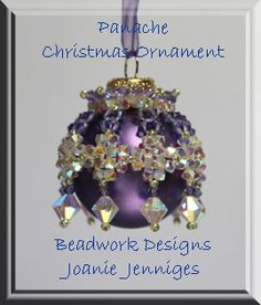 Panache Christmas ornament pattern is now available at Beadwork Designs by Joanie Jenniges