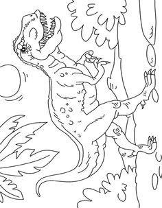 Dibujo colorear Tiranosaurio Rex escena Dino Craft, Dinosaur Crafts, Dinosaur Toys, Dinosaur Party, Dinosaur Coloring Pages, Coloring Book Pages, Coloring Sheets, Adult Coloring, Dinosaurs Preschool