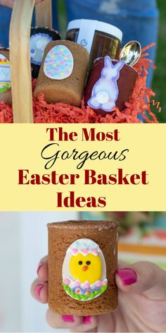 The Most Gorgeous Easter Basket Ideas - Cookie Shots At The Dirty Cookie - Catered Or Delivered Easter Gift For Adults, Easter Baskets For Toddlers, Baby Easter Basket, Easter Cookies, Easter Treats, Easter Desserts, Healthy Desserts, Easter Appetizers, Egg Alternatives