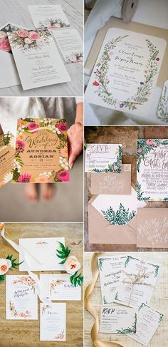 garden themed wedding invitations for 2017 trends                                                                                                                                                                                 More