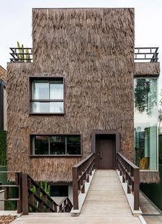 Campanas Brothers use palm fibre to give Sao Paulo house hairy texture