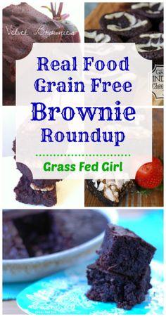 Real Food Grain Free Brownie Roundup