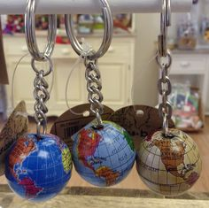 Gemstone globe key ring set awesome stuff to buy pinterest key globe key rings gumiabroncs