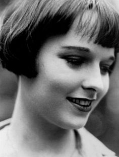 Louise Brooks, 1920's She also made the Bob haircut popular. Love this photo.