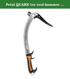 Petzl QUARK ice tool-hammer w/GripRest. Ice axe for technical mountaineering and ice climbing.