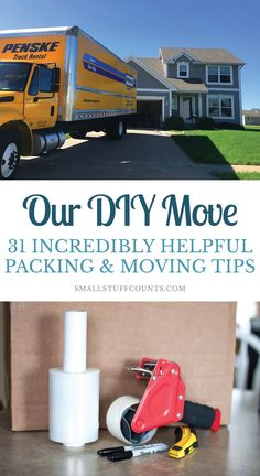 Our DIY Move – My 31 Best Packing Tips & Moving Tips , Are you moving to a new house soon? Here are my best packing tips and moving tips I learned from our own DIY move. Everything from packing hacks to renting a moving truck to an organized moving day.