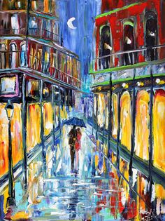 Original painting New Orleans French Quarter by Karensfineart