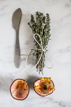 Thyme and Passion Fruit Spelt waffles - Sugar Thumb