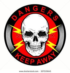 SKULL AS DANGERS SYMBOL ISOLATED
