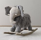 RH Baby & Child's Wooly Plush Animal Rocker - Elephant:With a sturdy wood base for a smooth ride, our rocker is a welcome playtime companion.