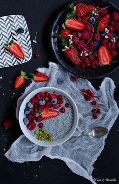 Coco e Baunilha: Pudim de chia com frutos vermelhos