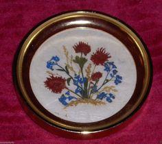 Vintage Floralp Tyrol Dried Flower Art Plaque by classiccapecod, $8.99