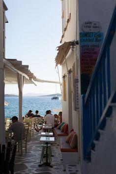 greece | mykonos | sunset cafe
