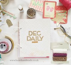 My december daily cover with gold stickers and crate paper