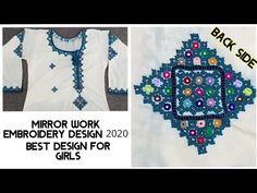 Mirror work dress, Mirror work Embroidery Design, Sindhi Barth design 2020, Shisha work dress, - YouTube Mirror Work Kurti, Mirror Work Dress, Work Suits, Designer Dresses, Embroidery Designs, Dresses For Work, Youtube, Work Outfits, Designer Gowns