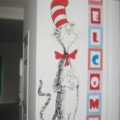 Giant Cat In The Hat Cut Out Bulletin Board Set