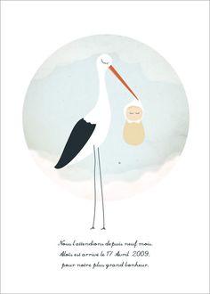 # Cigogne - Photo de Naissance Garçons - my lovely faire-part