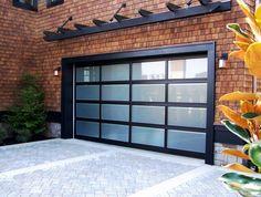 Wonderful Dark Garage Border Alumunium Garage Border Glass Door Dark Overhead Garage  Brick Wall Of Ingenious Ideas